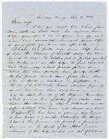 Letter from Samuel Gilman to his wife, Sept. 2, 1849
