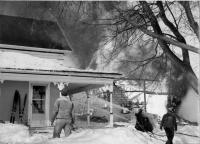 Barn fire, State Road, Presque Isle, 1961