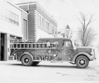 Mack pumper, Presque Isle, 1963