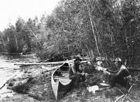 Lunching by Squapan Lake, ca. 1900