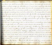 Entry from Persis Sibley's diary, July 29, 1849