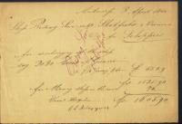 Ship's receipt, Antwerp, 1860.