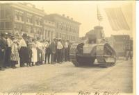 Tank, July 4th parade, Houlton, 1919