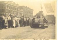 Tank, July 4th parade, Houlton, 1919