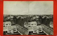 View west from top of custom house, Rockland, ca. 1875