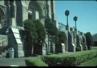 Front entrances of Basilica of Saints Peter and Paul, Lewiston, ca. 1970