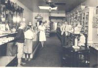 Interior of Porter's drug store, Boothbay Harbor, ca. 1930