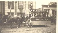 Boothbay Harbor's Sons of Veterans' parade float, 1919
