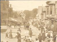 Townsend Avenue in Boothay Harbor, looking north ca. 1910