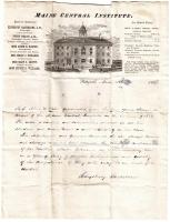 Letter of Recommendation for graduate, Pittsfield, 1884