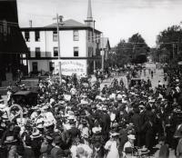 Celebration in Sanford Square, ca. 1892
