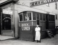 Quick Lunch Diner,  Washington Street, Sanford, About 1910
