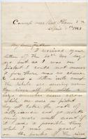 Pvt. John Sheahan on hatred of slavery, Virginia, 1863