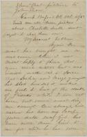Pvt. John P. Sheahan on desire for education, Washington, 1863