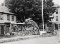 Bicycles at Philpot's Store, Springvale, ca. 1900