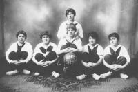 Margaret Chase Smith on the Championship team, 1916