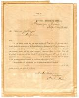 Thomas J. Burgess, draft notice, Belfast, 1863