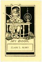 Claire L. Aubrey bookplate, ca. 1925