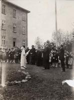 Governor Baxter at Commencement, St. Agatha, 1924