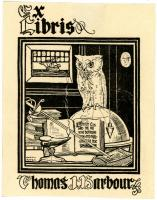 Thomas J. Barbour bookplate, ca. 1925