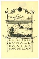 Donald Baxter MacMillan bookplate, ca. 1925