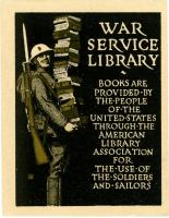 War Service Library bookplate, ca. 1917