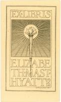 Elizabeth Mast Hyatt bookplate, 1912