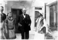 William Jennings Bryan, Crawford A. Peffer and Nancy Peffer Brown, c. 1920