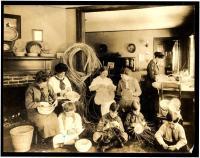 Basket weaving at Lanier Camp
