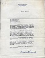 Franklin D. Roosevelt letter to Llewellyn Barton, 1932