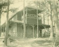Indian Island summer cottage owned by actors Florence Reed and Malcolm Williams, Standish, 1923