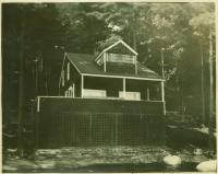 Indian Island summer cottage owned by actors Mary Hechter and William Roselle, Standish, 1923