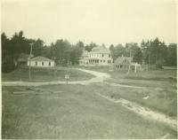 Smith's Mills view of village from stable, Standish, 1923
