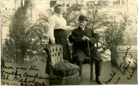 Postcard of Annie Louise Cary Raymond and her husband, 1906