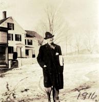 Wesley Martin on peg leg, Bangor, 1916