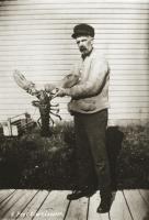 Port Clyde lobster postcard, ca. 1925