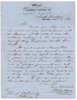William H. Jackson letter requesting employee exemption from Civil War draft, 1862