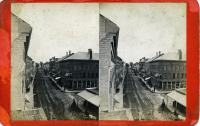 Main Street south from top of Wise Block, Rockland, ca. 1875