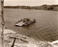 Westport Ferry Leaves from Wiscasset, 1941