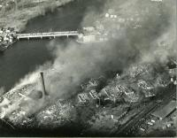 Remnants of the Diamond National & Hooper Street Fire, Biddeford, 1963