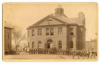 Civil War veterans at Memorial Hall, Belfast, ca. 1890