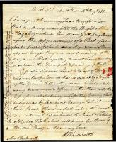 Peleg Wadswort' letter about Penobscot Expedition, 1779