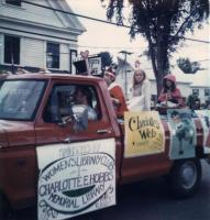 Library float at Lovell Old Home Day Parade, 1976