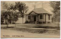 Lovell Public Library in 1907