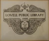 Original Lovell Public Library Logo, 1908