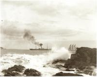 Steam and sail, Portland, ca. 1900