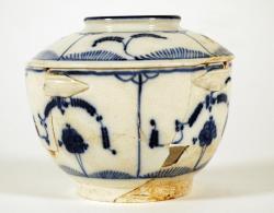 Pearlware sugar bowl, Portland, ca. 1830