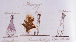 Clara Cary, Rinaldo Wiggin, John Martin, Bangor, 1844
