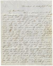 Letter to Elizabeth Mounfort from a friend in Trinidad, Cuba, July 4, 1847