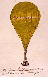 First balloon ascension, Bangor, 1857